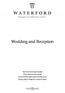 Wedding and Reception