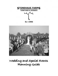 Wedding and Special Events Planning Guide