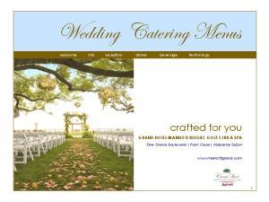 Wedding Catering Menus