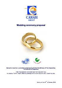 Wedding ceremony proposal