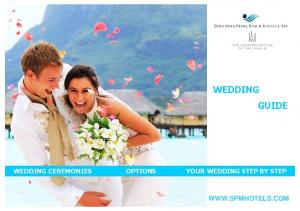 WEDDING GUIDE WEDDING CEREMONIES OPTIONS YOUR WEDDING STEP BY STEP