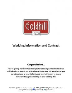 Wedding Information and Contract