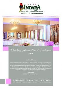 Wedding Information & Packages 2017