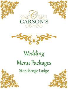 Wedding Menu Packages Stonehenge Lodge
