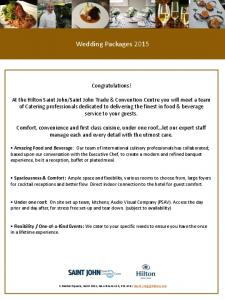 Wedding Packages 2015