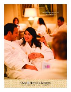 wedding services at the spa