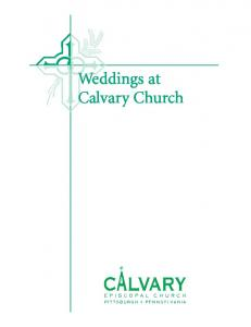 Weddings at Calvary Church