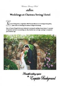 Weddings at Chateau Yering Hotel