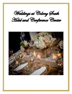 Weddings at Colony South Hotel and Conference Center