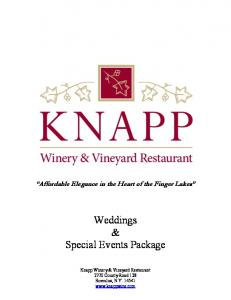 Weddings & Special Events Package