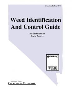 Weed Identification And Control Guide