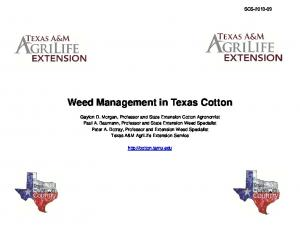Weed Management in Texas Cotton