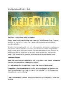 Week 2, Nehemiah 2:1 8 - Hook