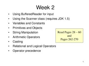Week 2. Read Pages and Pages