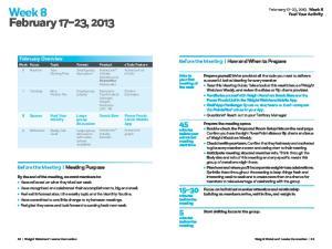 Week 8 February 17 23, 2013