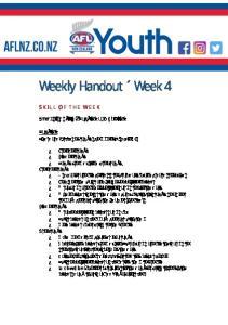 Weekly Handout Week 4