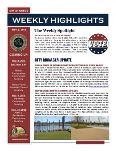 WEEKLY HIGHLIGHTS. The Weekly Spotlight