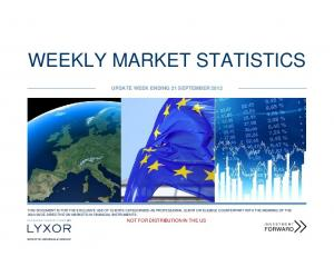 WEEKLY MARKET STATISTICS