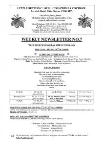 WEEKLY NEWSLETTER NO.7