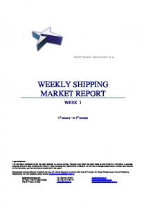WEEKLY SHIPPING MARKET REPORT