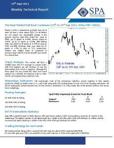 Weekly Technical Report Weekly Technical Report