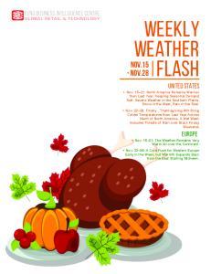 Weekly Weather Flash. NOV.15 - Nov.28. United States. Europe
