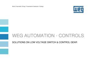 WEG AUTOMATION - CONTROLS