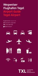 Wegweiser Flughafen Tegel Airport Guide Tegel Airport
