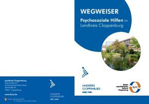 WEGWEISER. Psychosoziale Hilfen im Landkreis Cloppenburg LANDKREIS CLOPPENBURG LANDKREIS CLOPPENBURG