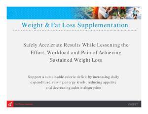Weight & Fat Loss Supplementation