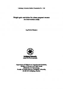 Weight gain restriction for obese pregnant women An intervention study