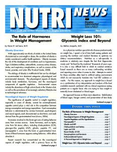 Weight Loss 101: Glycemic Index and Beyond. The Role of Hormones in Weight Management