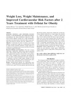 Weight Loss, Weight Maintenance, and Improved Cardiovascular Risk Factors after 2 Years Treatment with Orlistat for Obesity