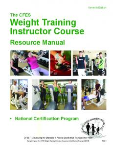 Weight Training Instructor Course