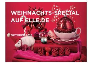 WEIHNACHTS-SPECIAL AUF ELLE.DE OKTOBER 2016