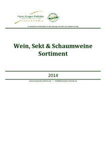Wein, Sekt & Schaumweine Sortiment