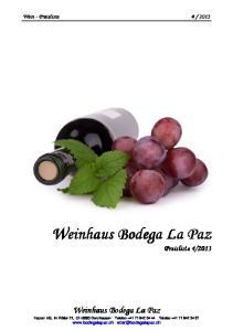 Weinhaus Bodega La Paz