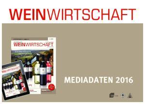 WEINWIRTSCHAFT MEDIADATEN 2016 AMF
