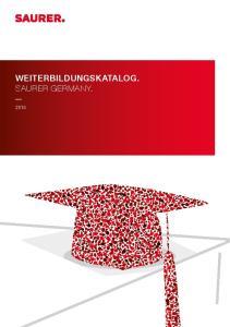 WEITERBILDUNGSKATALOG. SAURER GERMANY