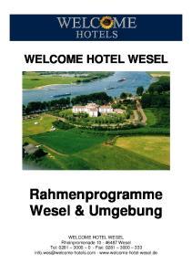 WELCOME HOTEL WESEL Rahmenprogramme Wesel & Umgebung