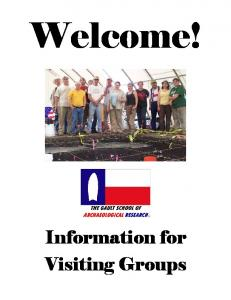 Welcome! Information for Visiting Groups
