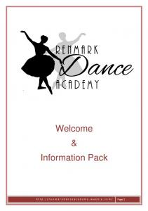 Welcome & Information Pack