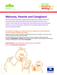 Welcome, Parents and Caregivers!