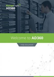 Welcome to AD360. Help document