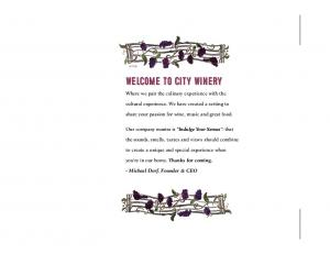 Welcome to City Winery