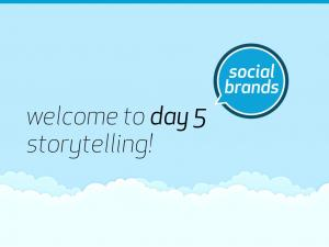 welcome to day 5 storytelling!