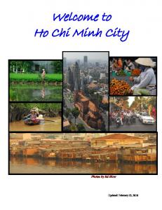 Welcome to Ho Chi Minh City