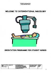WELCOME TO INTERVENTIONAL RADIOLOGY