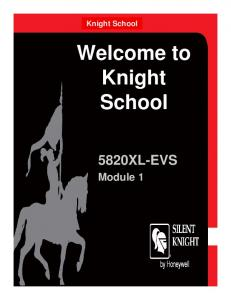 Welcome to Knight School