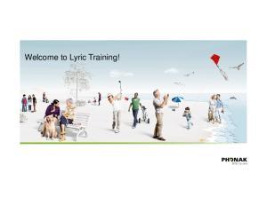 Welcome to Lyric Training!